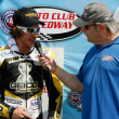 Stock Photo: Danny Eslick after finishing 2nd during AMDaytonSportBike race