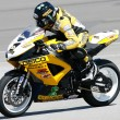 Danny Eslick rides his Suzuki GSX-R600 - Stock Photo