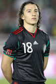 Andres Guardado before the start of the game — Stock Photo