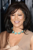 Julie Chen attends the Extraordinary Measures premiere — Stock Photo