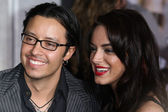 Actor Efren Ramirez and his guest attend the When In Rome premiere — Stock Photo