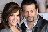 Maria Canals Barrera and husband David Barrera attend the When In Rome premiere — Stock Photo