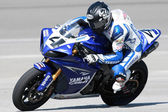 Josh Hayes on a Yamaha YZF-R1 — Stockfoto