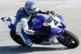 Clinton Seller rides his Yamaha YZF-R6 — Stok fotoğraf