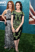 Jane Adams and Rebecca Creskoff attend the film premiere — Stock Photo