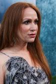 Rebecca Creskoff attends the film premiere — Stock Photo