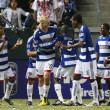 Постер, плакат: FC Dallas celebrate a penalty kick goal by David Ferreira during the game