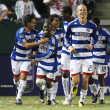 Dallas celebrate a penalty kick goal by David Ferreira during the game — Stock Photo