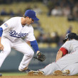 RyTheriot puts late tag on IDesmond during game — Stock Photo #14901059