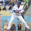 Andre Ethier keeps his eye on ball during game — Stock Photo #14901119
