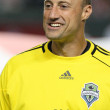 Постер, плакат: Kasey Keller before the start of the game