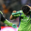 FREDY MONTERO (R) walks off mid air collision during game — Stock Photo #14901435