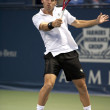 Flavio Cipolla returns a serve to Jack Sock during the tennis match — Stock Photo #14902759