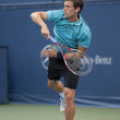 Tobias Kamke returns serve during game — Stock Photo #14902873