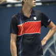 Sam Querrey watches the replay on a challenged call during the game — Photo