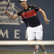 Sam Querrey charges net during game — Stock Photo #14903151