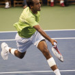 Rajeev Ram in action during the game - Stock Photo