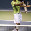 Rajeev Ram in action during the game — Foto de Stock