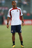Maicon Santos during warm ups before the start of the match — Stock Photo