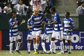 FC Dallas celebrate a penalty kick goal by David Ferreira during the game — Stock Photo