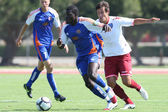 Ousman Jagne and Marlon Pack fight for the ball during the friendly match — Foto de Stock