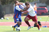 Artur Aghasyan and Marlon Pack fight for the ball during the friendly match — Stock Photo