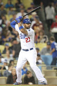 Matt Kemp at bat during the game — Stock Photo