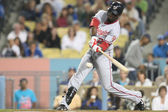 Roger Bernadina takes a swing during the game — Fotografia Stock