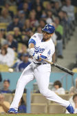 James Loney at bat during the game — Stock Photo