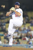 Jonathan Broxton pithces during the game — Stock Photo