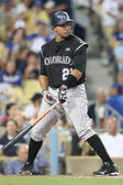 MIGUEL OLIVO keeps his eye on the ball during the game — ストック写真