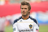 David Beckham before the game — Stock Photo