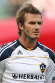 David Beckham before the start of the game — Stock Photo
