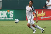 Omar Gonzalez in action during the game — Stock Photo