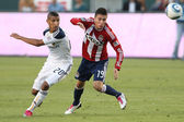 Sean Franklin and Jorge Flores in action during the game — Stock Photo