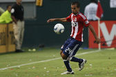 Rodolfo Espinoza in action during the game — Stock Photo