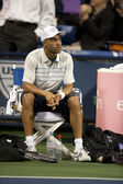 James Blake takes a break between sets during the game — Stock Photo