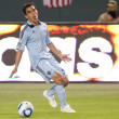 Omar Bravo gets called offsides during the game - Stock Photo