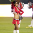 A Chivas USA cheerleader before the game - Stock Photo