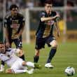 Todd Dunivant, Sheanon Williams and Sebastien Le Toux in action during the game - Stock Photo