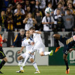 Danny Mwanga, Todd Dunivant and Landon Donovan in action during the game between the Philadelphia Union and the Los Angeles Galaxy at the Home Depot Center - Stock Photo