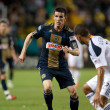 Sebastien Le Toux in action during the game - Stock Photo