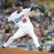 Hiroki Kuroda in action during the game - Foto Stock