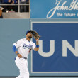Matt Kemp in action during the game - 图库照片