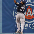 Stock Photo: Carlos Gomez makes home run robbing catch during game