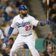 Royalty-Free Stock Photo: Matt Kemp at bat during the game