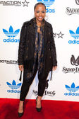 Shante Broadus arrives at the NBA All-Star Weekend VIP party co-hosted by Adidas and Snoop Dogg — Foto de Stock