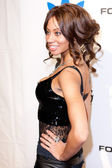 Erica paige llega en el all-star nba fin de semana de fiesta vip copatrocinada por adidas y snoop dogg — Foto de Stock