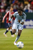 Kei Kamara runs down the ball during the game — Stock Photo