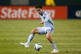 Omar Bravo in action during the game — Stock Photo
